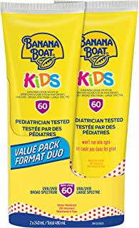 Banana Boat Sunscreen for Kids, Sunscreen Lotion, SPF 60, Value Twin Pack Lotion