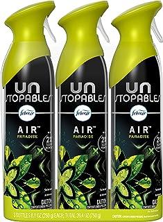 Febreze Air Freshener Spray, Unstopables Paradise, Odor Eliminator, 3 Count