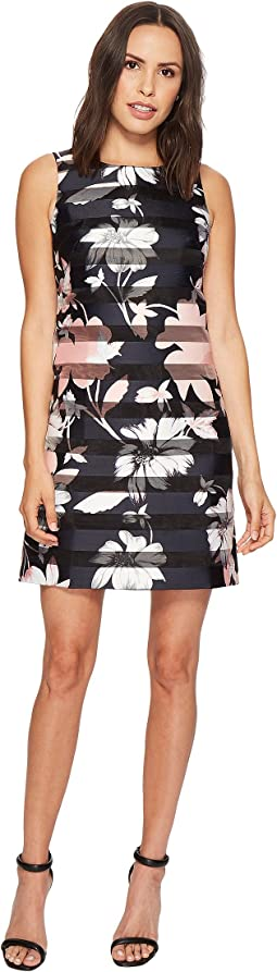 Vince Camuto - Printed Shadow Stripe Shift Dress