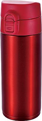 ATLAS(アトラス) 水筒 350ml ステンレスボトル マグボトル ワンタッチ ボトル レッド ALW-350R