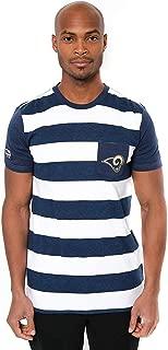 Ultra Game NFL Men's Short Sleeve Stripe T-Shirt with Pocket