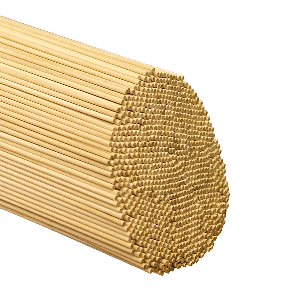 HealthGoodsIn - Natural Bamboo Sticks for Craft Projects | Project Sticks Made of Natural Bamboo (Pack of 100, 15 cm skewers)