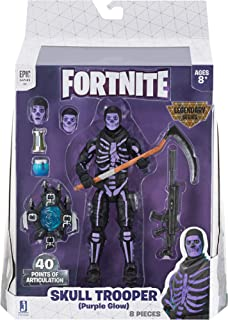 Fortnite Legendary Series 6in Figure Pack, Skull Trooper (Purple Glow)
