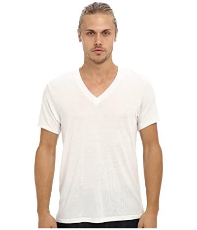 Alternative Boss V-Neck Tee (Eco Ivory) Men