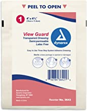 Dynarex View Guard Transparent Sterile Dressing 4 Inch X 4 3/4 Inch, 200 Count