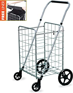 collapsible laundry cart with wheels