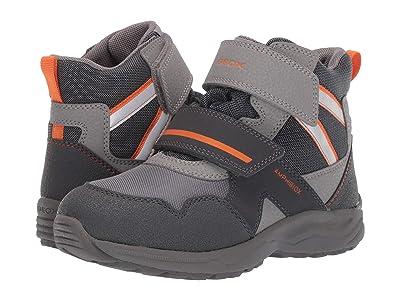 Geox Kids Jr Kuray Babx 2 (Little Kid/Big Kid) (Grey/Orange) Boys Shoes