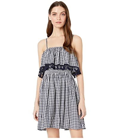 BB Dakota Hayride Gingham Dress (Dark Blue) Women