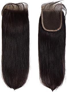 Joe Green 4x4 Melt Down Transparent Lace Closure with 100% Virgin Human Brazilian Hair (12 Inch, Natural Straight)
