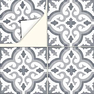 SnazzyDecal Tile Stickers Marrakesh 40pc 4x4in Peel and Stick for Kitchen and Bath M009-4