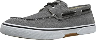 SPERRY Men's, Halyard Lace up Boat Shoe Chambray Black 12 M