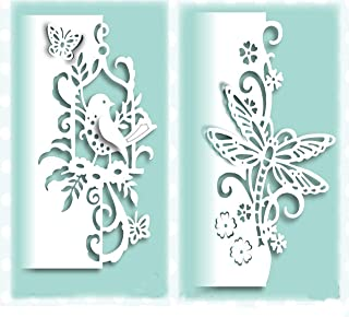2pcs Metal Die Cuts,Lace Bird Butterfly Dragonfly Metal Cutting Dies Stencils DIY Invitation Scrapbook Embossing Album Paper Photo Craft for Card Making Mould Template