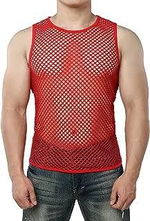 red mesh tank top