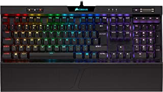 Corsair K70 RGB MK.2 Low Profile Tastiera Meccanica Gaming Cherry MX Red, Lineare e Veloce, Retroilluminato RGB LED, Itali...