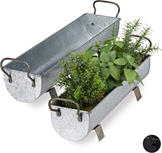 Maceta jardinera macetero con sistema de riego 2/tama/ños de polirrat/án 4/colores