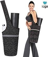IUGA Yoga Mat Bag with Large Size Pocket & Inner Zipper Pocket, Yoga Carrier Bag Fit Most Yoga Mat Size