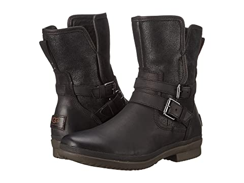 Leather UGG Simmens Leather UGG UGG Black Simmens Black Simmens ETOPP8gqxW
