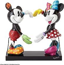 Enesco Disney by Romero Britto Mickey y Minnie Figura, cerámica, Multicolor, 14x 16x 17cm
