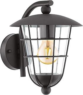 EGLO Outdoor Wall Light, ZincPlated Steel, 60 W, Black