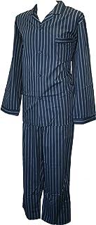 Espionage Navy Traditional Striped Cotton Mix Long Pyjamas