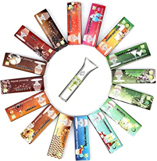 HORNET Flavored Rolling Papers with Glass Filter, 800 PCS Unbleached and Raw Cigarette Papers, 16 Soft Drinks Flavors (1 1/4 Size)