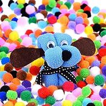 300 Pieces 1 Inch Assorted Pom Poms, Craft Pom Pom Balls, Colorful Pompoms for DIY Creative Crafts Decorations, Kids Craft...