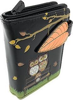 Autumn Owl Park Bench Small Women's Wallet