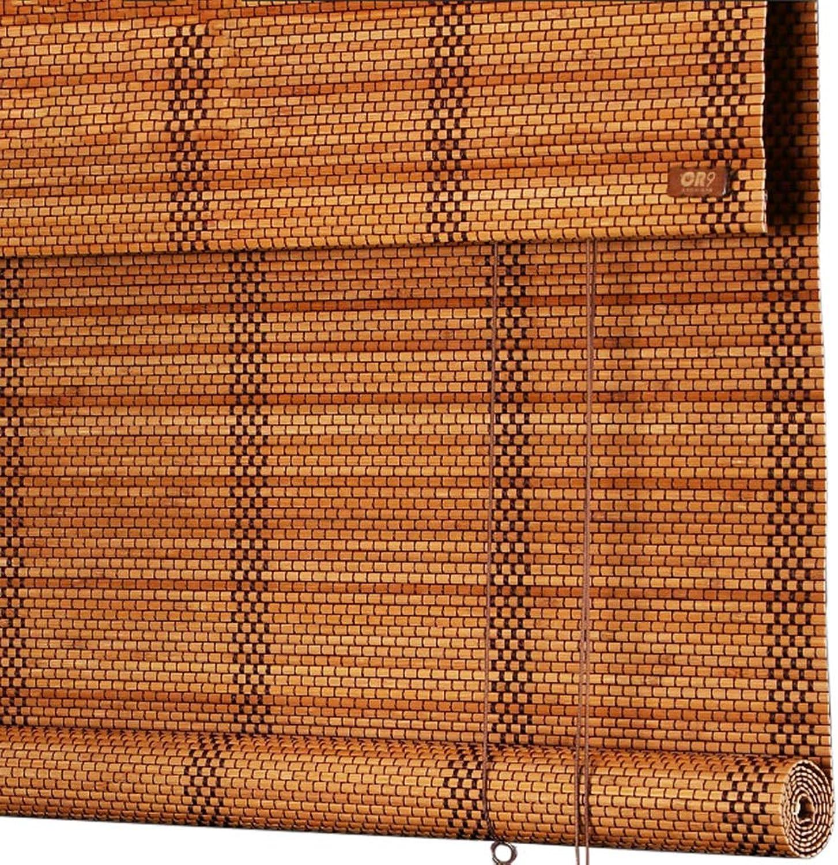 solo cómpralo LXLA - Cortinas enrollables de de de bambú para Ventanas - Cortinas enrollables de Madera de Estilo japonés para el pabellón del Porche del Corrojoor del Patio, 60% de apagón (Talla   W60cm X H80cm)  la red entera más baja