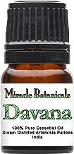 Miracle Botanicals Davana Essential Oil - 100% Pure Artemisia Pallens - Therapeutic Grade -2.5ml