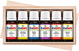 Plant Therapy Essential Oils KidSafe Starter Set for Focus, Calming, Sleep, Immune Support 100% Pure, 6 Undiluted Blends, Natural Aromatherapy, Therapeutic Grade 10 mL (1/3 oz)