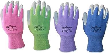 Atlas 370 Garden Glove 4 Pack (Small, purple pink periwinkle green)