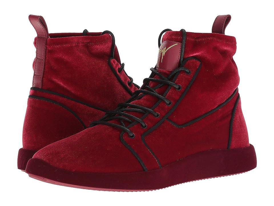 Giuseppe Zanotti Singles Velvet High Top Sneaker (Vitigno) Men