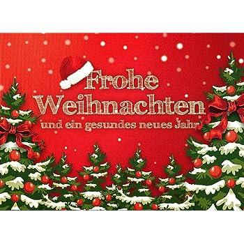 Freunde oder Kunden Weihnachtskarte Set f/ür Familie creme 15 moderne Weihnachtskarten mit Umschl/ägen Klappkarten mit Spr/üchen /& Rezepten f/ür Weihnachten