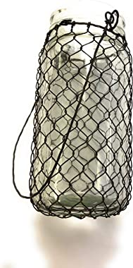 Country House Collection Jar with Chicken Wire