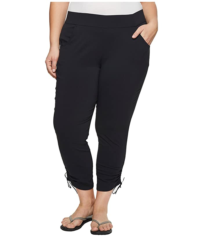 Columbia Plus Size Anytime Casualtm Ankle Pants (Black) Women
