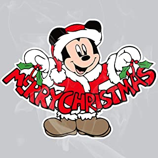Enigma Design Company Mickey Merry Christmas Static Cling Decal
