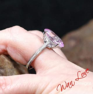 pave pink sapphire eternity band