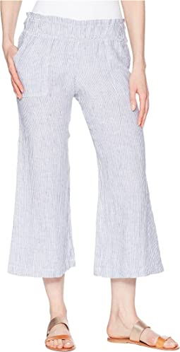 Allen Allen Crop Pull-On Wide Leg Pants