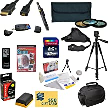 47th Street Photo Must Have Accessory Kit for the Canon 6D, 7D, 7DSV, 60D, 60Da, 70D, 5D Mark II, 5D Mark III - Kit Includes: 32GB High-Speed SDHC Card + Card Reader + Extra Battery + Travel Charger + 58MM 3 Piece Pro Filter Kit (UV, CPL, FLD Lens) + HDMI Cable + Padded Gadget Bag + Remote Control + Professional 60
