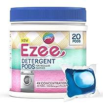 Godrej Ezee Pods, 4X Concentrated Liquid Detergent – 20 Count,