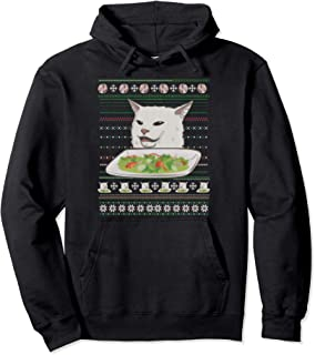 woman yelling at Smudge the Cat Meme ugly sweater Pullover Hoodie