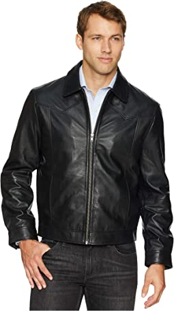 Barron Soft Leather Zip Front Jacket