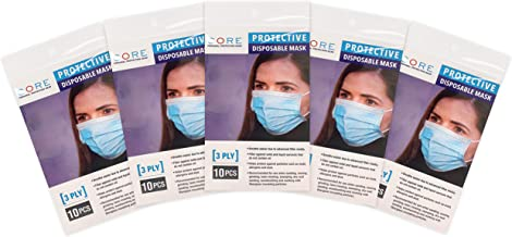 Protective Disposable Face Mask, 50-Pack