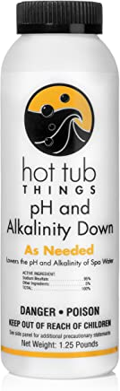 Hot Tub Things pH and Alkalinity Down 1.25 Pounds - Keep Your Spa Water Properly Balanced