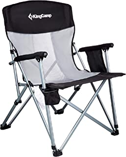 KingCamp チェア 折りたたみ 椅子 キャンプ アームチェア 耐荷重150kg 耐荷重136kg 収束型 イス コンパクト 收纳袋付 アウトドア キャンプ用品