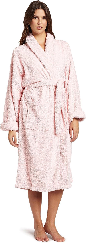 Superior Egyptian Cotton Unisex Medium Terry Bath Robe, Pink