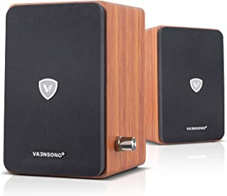 Computer Speakers,Vaensong JT009 2.0 Channel Wired USB Powered Multimedia Desktop Speakers with Surround Sound,Enhanced Ba...