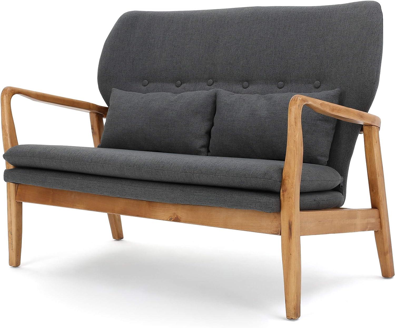 Christopher Popular product Knight Home Spencer Dark Award-winning store Loveseat Fabric Grey