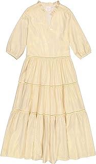 فستان هندي حريمي من Masala Baby Women's India Dress معدني ذهبي كاجوال