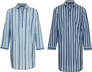 Champion 2 Pack New Mens Westminster Stripe Nightshirt Sleepwear Lounge Wear